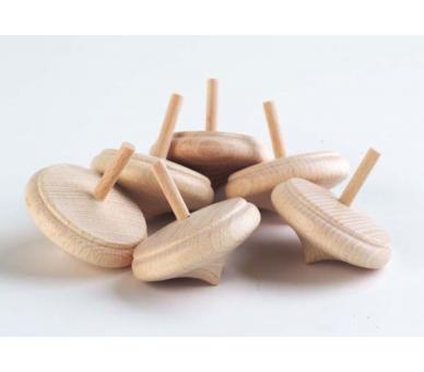 Peonza de madera Juego Heurístico +1