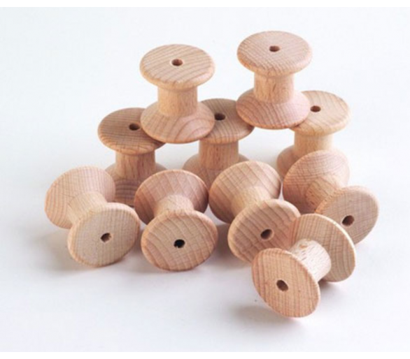 Carrete de madera Juego Heurístico +1