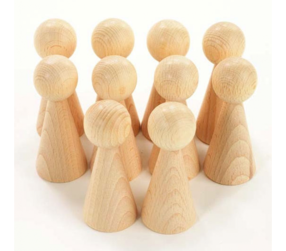 Figura Cónica madera Juego Heurístico +1