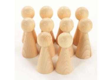 Figura Cónica madera Juego Heurístico