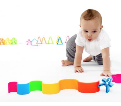 Regalos perfectos para bebés el arco iris de silicona de Dëna