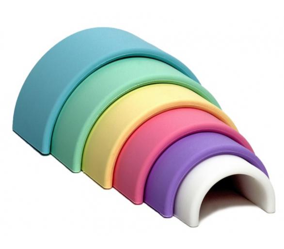 Arco Iris de Dëna Waldorf en tonos Pastel Pequeño Silicona