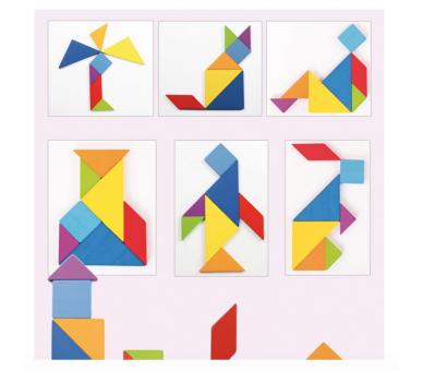 Juguete Educativo Tangram juego de toda la vida súper interesante