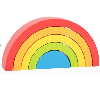 Arco Iris Waldorf pequeño de Madera para bebés