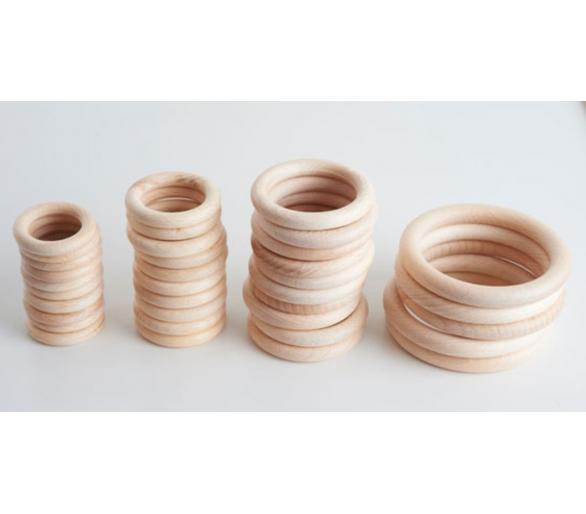 Anillas de madera grandes para la cesta de los tesoros Montessori