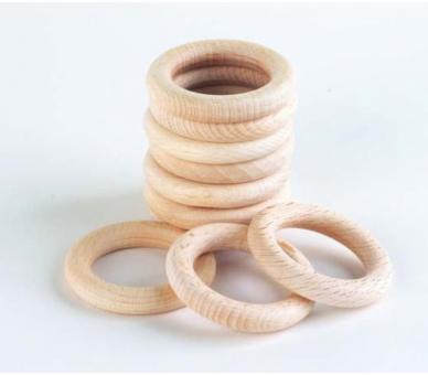 Anillas de madera pequeñas para la cesta de los tesoros de bebés