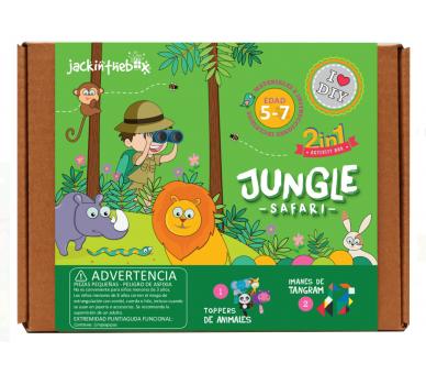 2 Manualidades de Safari en la Selva con Tangram para jugar en cualquier sitio